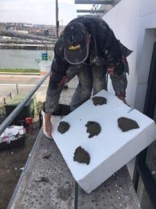 Isolation thermique par l'extérieur, chantier Urbel