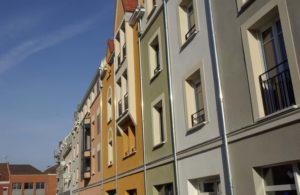 Coloris d'enduit de façade. Sur ce même chantier Urbel Façade a appliqué 12 différents coloris d'enduit